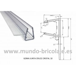 Goma Junta de Cruce Cristal 10mm