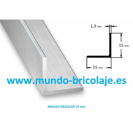 Angulo Regular Aluminio 15X15X1.3