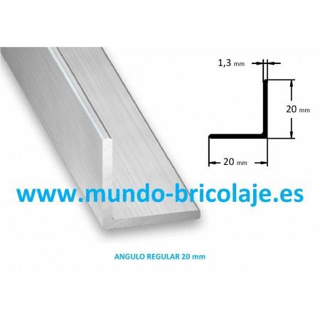 Angulo Regular Aluminio 20X20X1.3