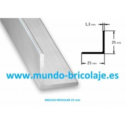 Angulo Regular Aluminio 25X25X1.3