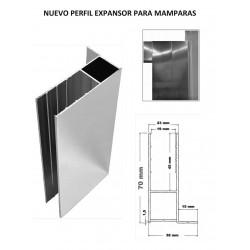 Perfil Expansor para Mamparas