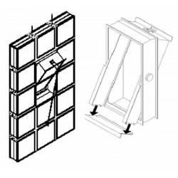 Ventanas para bloque de vidrio