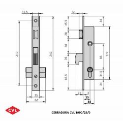 Cerradura CVL 1990/25