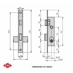 Cerradura CVL 1964/0