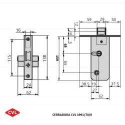 Cerradura CVL 1991/70
