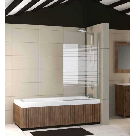 Mampara 1 hoja bañera (Cristal Decorado) 80 cm