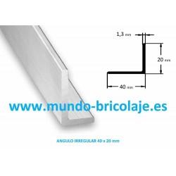Angulo Irregular Aluminio 40X20X1.3