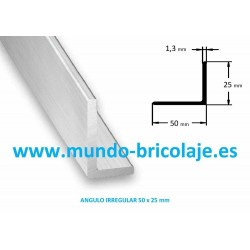 Angulo Irregular Aluminio 50X25X13