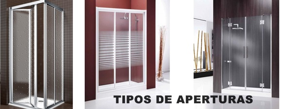 Mamparas de ducha tipos de aperturas - Tipos de mamparas ...
