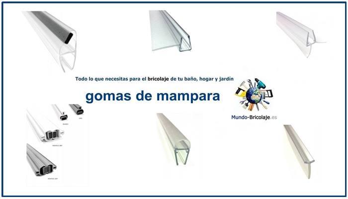 Tipos de gomas de mampara for Gomas estanqueidad puertas