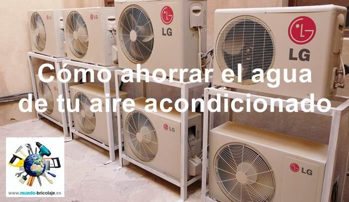 agua del aire acondicionado