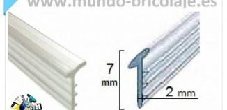 gomas de mampara goma cuña 2 mm