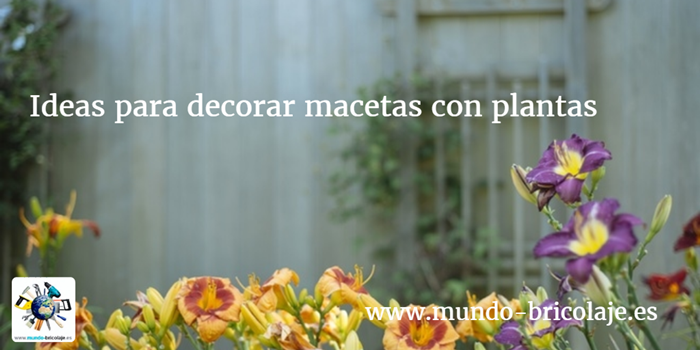ideas para decorar macetas