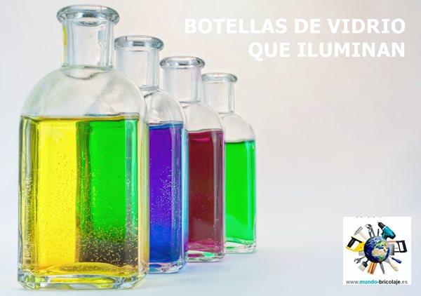 lamparas con botellas de vidrio recicladas