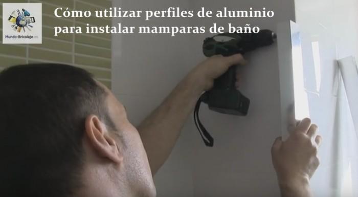 perfiles de aluminio para mamparas de baño