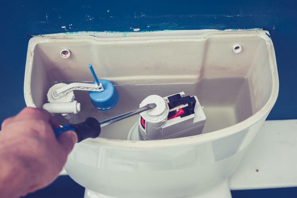 Pulsador cisterna estropeado