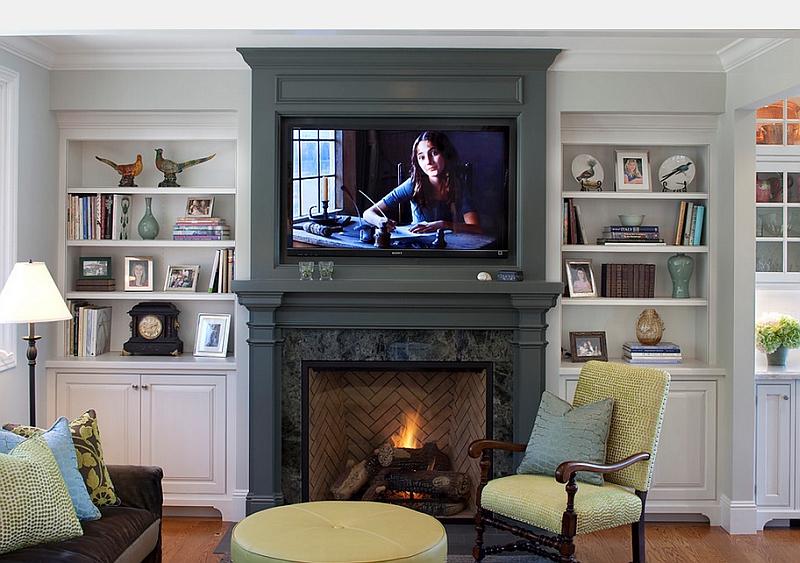 Conviene montar el televisor sobre la chimenea?