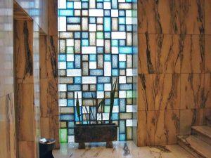 Bloques de vidrio para decorar el salón
